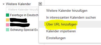 """Mit """"Über URL hinzufügen"""" eine der obigen Adressen einfügen."""